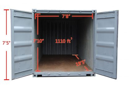 20 foot used container internal dimensions
