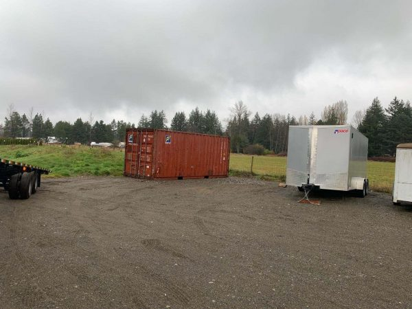 20 foot used container red