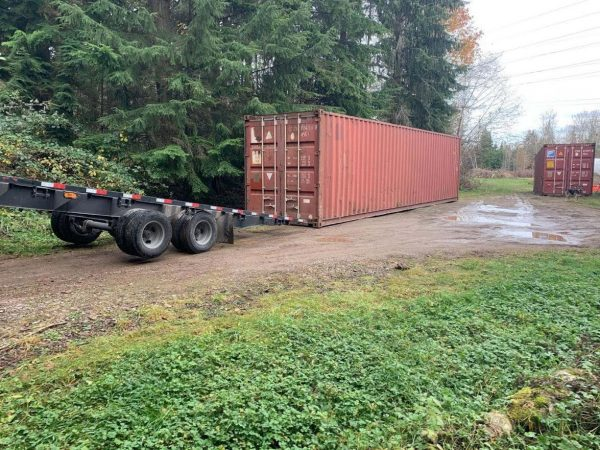 40 foot container used red 02