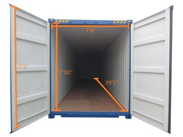 40SD used container inside dimensions