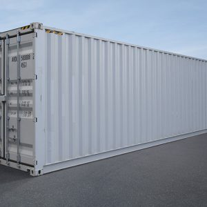 new white shipping container